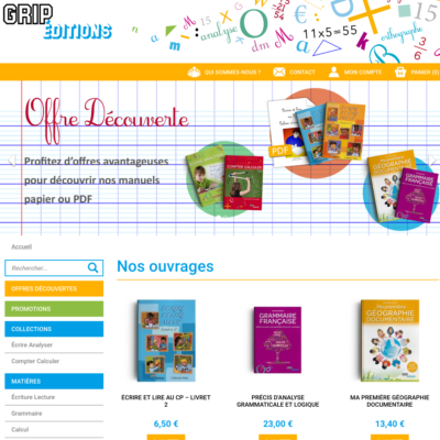 Site Grip-Éditions